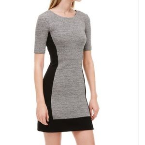 J Crew Sz 6 Colorblock stretch dress black gray